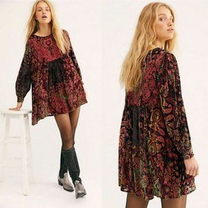 "Free People ""Mirror Mirror"" Velvet Mini Dress"